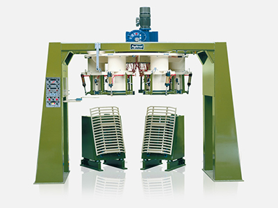 Carousel bagging machines for open mouth bags
