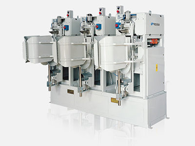 Electronic gross weight weigher-bagging machines for valve bags