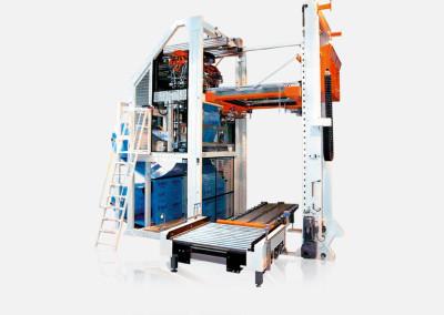 Machines de houssage pour palettes avec film thermorétractable
