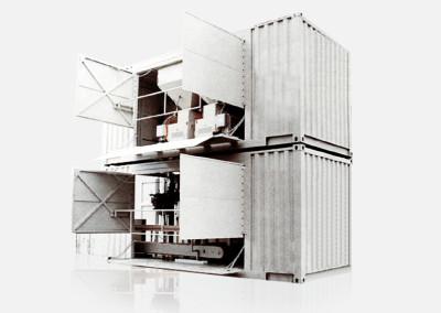 Mobile Absackeinheiten (in Container)
