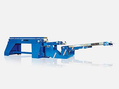 Nastri trasportatori retrattili-telescopici-articolati, per stivaggi sacchi su camion, container o vagone ferroviario