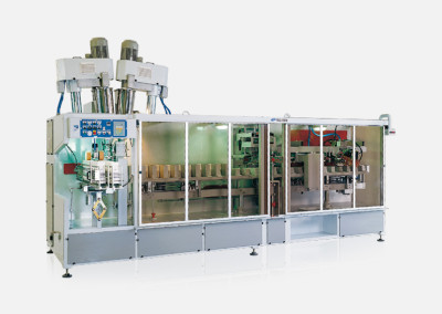 Packaging machines for small preformed paper bags